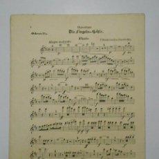Partituras musicales: PARTITURA DIE FINGALS-HOHLE. EN ALEMAN. FLAUTO. ODEON 55. TDKP2. Lote 101920591