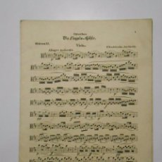 Partituras musicales: PARTITURA DIE FINGALS-HOHLE. EN ALEMAN. VIOLA. ODEON 55. TDKP2. Lote 101920619
