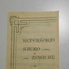 Partituras musicales: REPERTORIO SACRO MUSICAL. FERMIN IRIGARAY. TDKP2. Lote 101979587