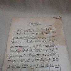 Partituras musicales: ANTIGUA PARTITURA GALLITO PASODOBLE FLAMENCO . Lote 102012203