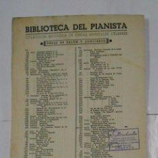 Partituras musicales: BIBLIOTECA DEL PIANISTA. POETA Y ALDEANO. OBERTURA. F. SUPPE. CASA EDITORIAL BOILEAU. TDKPR2. Lote 102341195