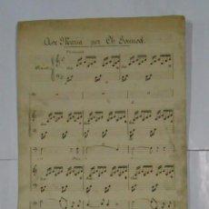 Partituras musicales: PARTITURA AVE MARIA POR CH. GOUNOD. TDKPR2. Lote 102343495