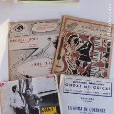Partituras musicales: LOTE 4 VARIADAS PARTITURAS, AÑOS 50 Y 60, JUAN Y JUAN, BAILANDO YENKA. Lote 103066763