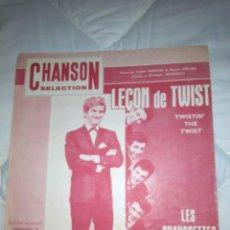 Partituras musicales: LES CHAUSSETTES NOIRES LECON DE TWIST . Lote 103067071