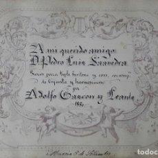 Partituras musicales: GOZOS AL NIÑO JESUS DE BALATE POR ADOLFO GASCON LEANTE MULA MURCIA 1880. Lote 103240703