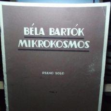 Partituras musicales: BELA BARTOK MIKROKOSMOS. PIANO SOLO.. Lote 104662975