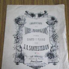 Partituras musicales - Partitura en euskera Colección de AIRES VASCONGADOS - Para canto y piano J. A. Santesteban - 104701351