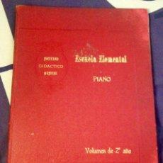 Partituras musicales: PIANO ESCUELA ELEMENTAL. SOCIEDAD DIDÁCTICO MUSICAL. VOLUMEN 2° AÑO. PARTITURAS. Lote 104822524