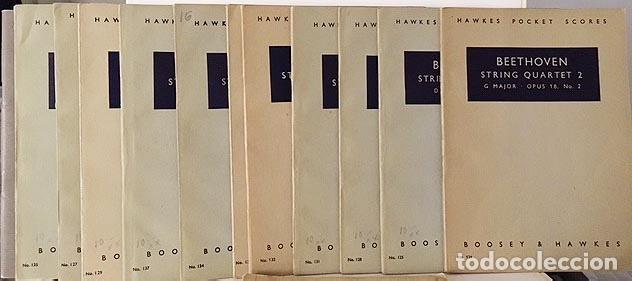 BEETHOVEN : 15 PARTITURAS DE BOLSILLO: CONCIERTO PARA VIOLÍN; CUARTETOS DE CUERDA (HAWKES (Música - Partituras Musicales Antiguas)
