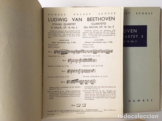 Partituras musicales: Beethoven : 15 partituras de bolsillo: Concierto para violín; Cuartetos de cuerda (Hawkes - Foto 2 - 104955767