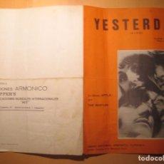 Partituras musicales: INTERESANTE PARTITURA ORIGINAL DE YESTERDAY THE BEATLES EDITADA EN 1974. Lote 104974151