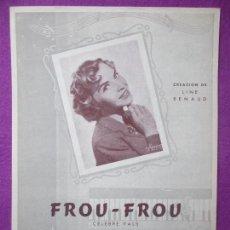 Partituras musicais: PARTITURA MUSICA, FROU-FROU, CELEBRE VALS, LINE RENAUD, CHATAU, PA42. Lote 105197843