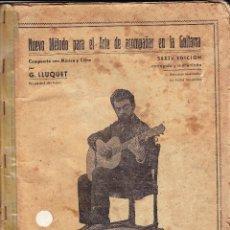Partituras musicales: NUEVO METODO ARTE DE ACOMPAÑAR EN LA GUITARRA - GUILLERMO LLUQUET. Lote 105872567