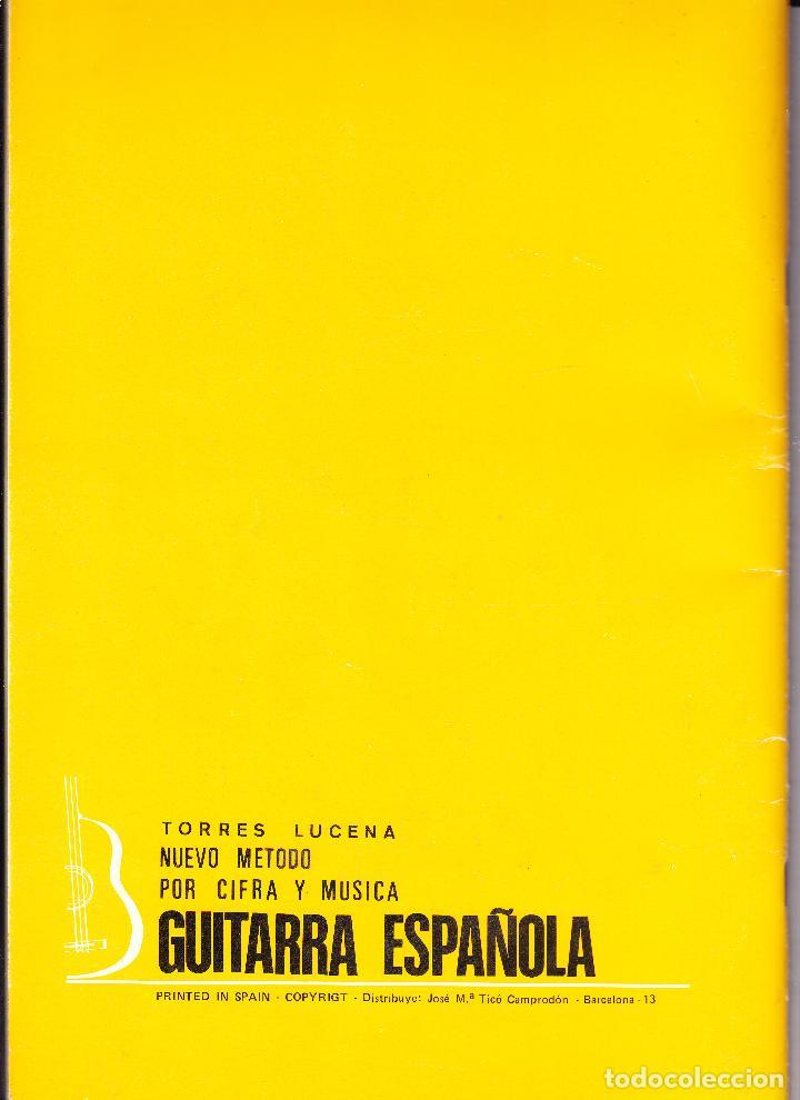 Partituras musicales: NUEVO METODO POR CIFRA Y MUSICA PARA GUITARRA ESPAÑOLA - TORRES LUCENA - Foto 5 - 105873123