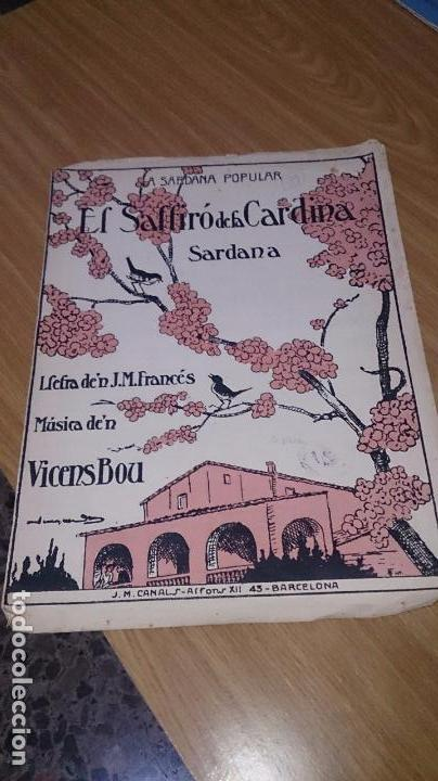 PARTITURA SARDANA - EL SALTIRÓ DE LA CARDINA - VICENS BOU (Música - Partituras Musicales Antiguas)