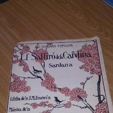 Partituras musicales: PARTITURA SARDANA - EL SALTIRÓ DE LA CARDINA - VICENS BOU. Lote 105921387