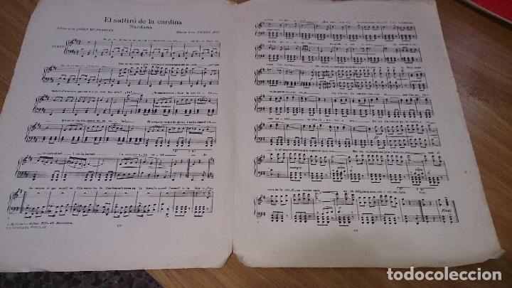 Partituras musicales: PARTITURA SARDANA - EL SALTIRÓ DE LA CARDINA - VICENS BOU - Foto 2 - 105921387