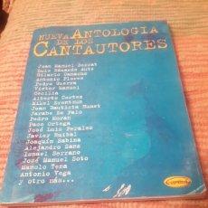 Partituras musicales: NUEVA ANTOLOGÍA DE LOS CANTAUTORES, LIBRO DE PARTITURAS. Lote 106094624