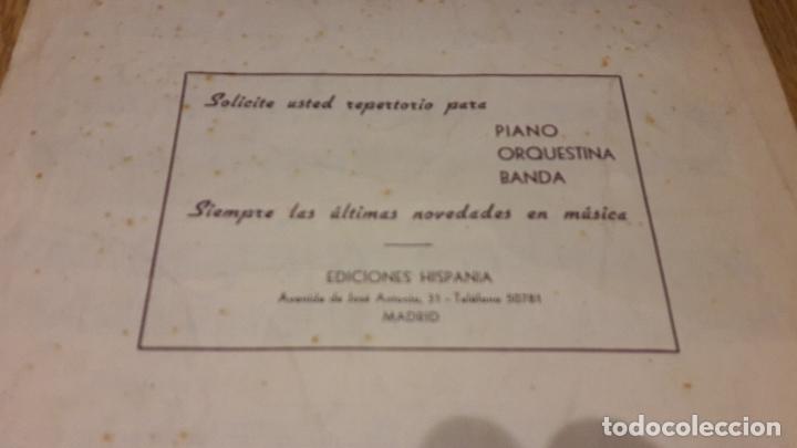 Partituras musicales: PARTITURA !! MI VACA LECHERA - FOX-CANCIÓN DEL OESTE / ED. HISPANIA - MADRID - Foto 3 - 107205139