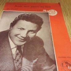 Partituras musicales: PARTITURA !! AMOR, MON AMOUR, MY LOVE / CLAUDIO VILLA / SAN REMO 1963 / MÚSICA DEL SUR.. Lote 107275847