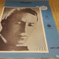 Partituras musicales: PARTITURA !! GRANADA / AGUSTÍN LARA - 1962 / MÚSICA DEL SUR. Lote 107276239