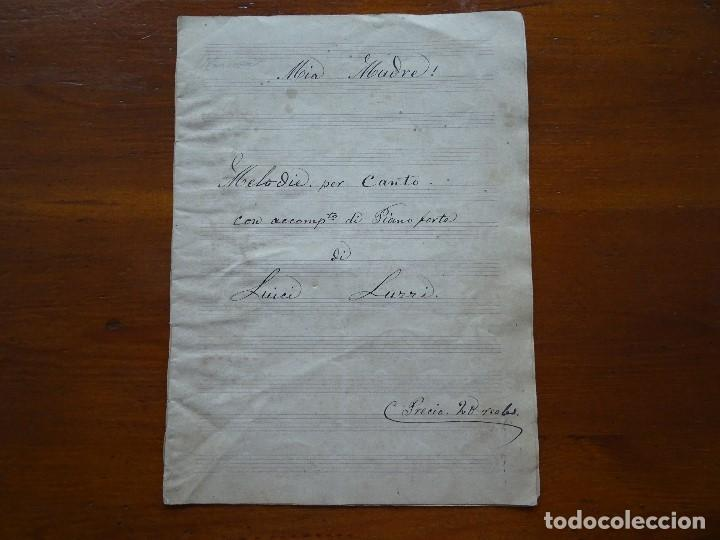 Partituras musicales: Manuscrita, Mia Madre! Luici Lurri, 7 pags - Foto 2 - 107396859
