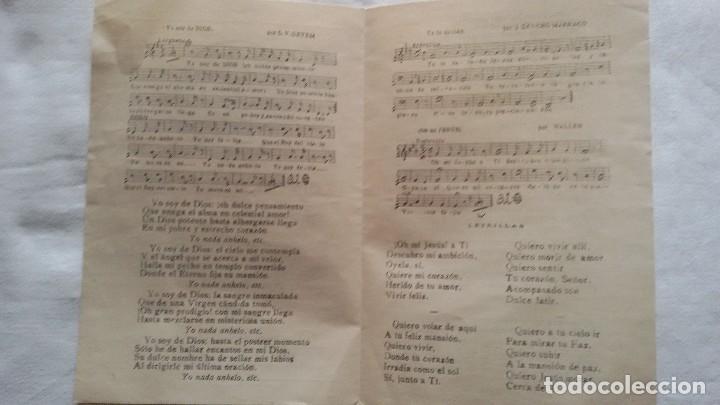 Partituras musicales: Motetes al Santísimo y Plegaria a la Virgen, Zaragoza, 1913. Díptico - - Foto 2 - 107415943