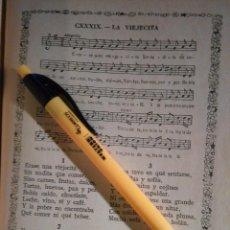 Partituras musicales: ANTIGUA HOJA PARTITURA Y LETRA - LA VIEJECITA - . Lote 108108827