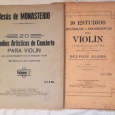 Partituras musicales: DOS ANTIGUAS PARTITURAS VIOLÍN Y PIANO.. Lote 91403714