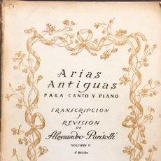 Partituras musicales: ARIAS ANTIGUAS PARA CANTO Y PIANO. (PARISOTTI) GLUCK, HANDEL, PERGOLESI, SCARLATTI, VIVALDI, ETC. Lote 109543235