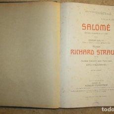 Partituras musicales: SALOMÉ. Lote 110021439