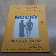 Partituras musicales: PARTITURA PELICULA ROCKY 2 CANCIONES - GONNA FLY NOW / VAMOS A VOLAR AHORA - YOU TAKE MY HEART AWAY. Lote 110088615