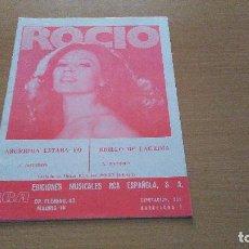 Partituras musicales: PARTITURA - ROCIO JURADO - 2 CANCIONES - ABURRIDA ESTABA YO / BRILLO DE LAGRIMA. Lote 110089163