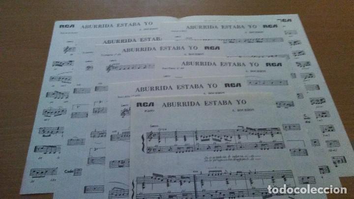 Partituras musicales: PARTITURA - ROCIO JURADO - 2 CANCIONES - ABURRIDA ESTABA YO / BRILLO DE LAGRIMA - Foto 2 - 110089163