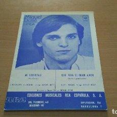 Partituras musicales: PARTITURA - MIGUEL BOSE - ALBUM LINDA - 2 CANCIONES - MI LIBERTAD / QUE VIVA EL GRAN AMOR. Lote 110091703