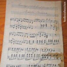 Partituras musicales: PARTITURA ANTIGUA - MARCHA INDIANA DE A.D. SELLENICK, HOMENAGE A S.A.R. EL PRINCIPE DE GALES. Lote 110223171