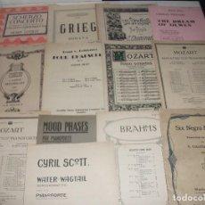 Partituras musicales: LOTE 12 PARTITURA PARA PIANO. CLASICOS. VER FOTOS. Lote 110421875