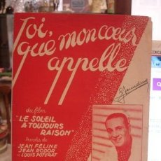 Partituras musicales: TOI QUE MANCOEUR APPELLE - PORTAL DEL COL·LECCIONISTA *****. Lote 110532023