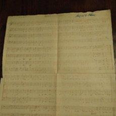 Partituras musicales: ANTIGUA PARTITURA AGUR JAUNAK CANCIÓN EUSKERA. Lote 110711215