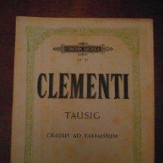 Partituras musicales: CLEMENTI TAUSIG. GRADUS AD PARNASSUM. EDITORIAL BOILEAU.EDICION IBERICA Nº 67.BIBLIOTECA DEL PIANIST. Lote 110883747