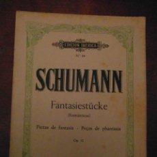 Partituras musicales: SCHUMANN FANTASIESTÜCKE. ROMANTICAS. PIEZA DE FANTASIA. PEÇAS DE PHANTASIA. OP. 12. BOILEAU. Lote 110886239