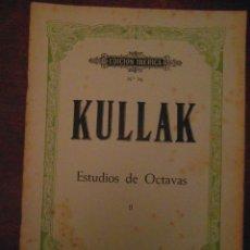 Partituras musicales: KULLAK. ESTUDIOS DE OCTAVAS II. EDITORIAL BOILEAU. EDICION IBERICA Nº 76. Lote 110887867