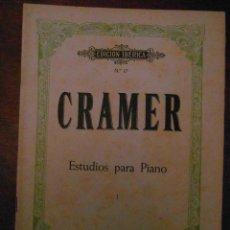 Partituras musicales: CRAMER ESTUDIOS PARA PIANO. TOMO I. EDITORIAL BOILEAU. EDICION IBERICA Nº 17. Lote 110894299
