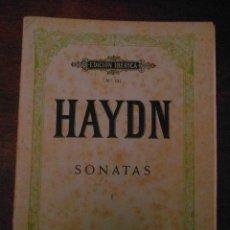 Partituras musicales: HAYDN. SONATAS. TOMO I. EDITORIAL BOILEAU. EDICION IBERICA Nº 131. Lote 110894847