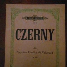 Partituras musicales: CZERNY. Nº 24. PEQUEÑOS ESTUDIOS DE VELOCIDAD OP. 636. EDITORIAL BOILEAU.EDICION IBERICA Nº 8. Lote 110896195