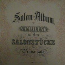 Partituras musicales: SAMMLUNG BELIEBTER SALONSTÜCKE FÜR PIANO - SOLO. LEIPZIG, VERLAG VON C. P. PETERS.. Lote 111805967