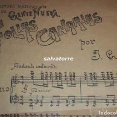 Partituras musicales: FOLIAS CANARIAS.J.CROSA.TENERIFE.CANARIAS. MUY DIFICIL. CIRCA 1900. Lote 112939635