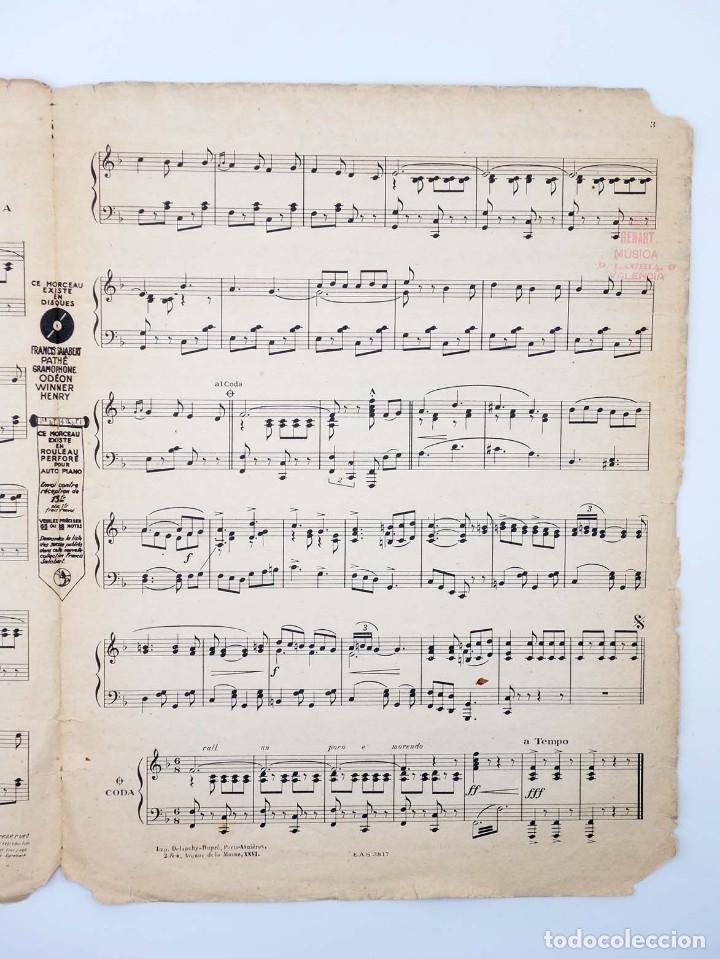 Partituras musicales: PARTITURA VALENCIA MOULIN ROUGE (Mistinguett / José Padilla) Francis Salabert, 1925 - Foto 3 - 113594590