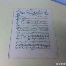 Partituras musicales: PARTITURA MÚSICA (E NATO AMORE. MELODÍA PARA CANTO Y PIANO. . Lote 115103579