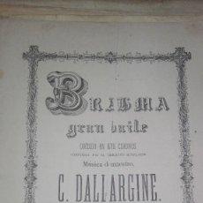 Partitions Musicales: BRABMA GRAN BAILE C DALLARGINE. Lote 115115543
